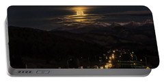 Moon Over Genessee Portable Battery Charger by Kristal Kraft