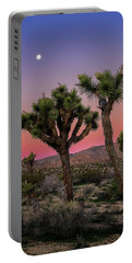 Portable Battery Charger featuring the photograph Moon Over Joshua Tree by John Hight