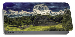Moon Over Mayan Temple Two Portable Battery Charger