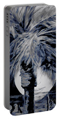 Moon Over Miami Portable Battery Charger by Jodie Marie Anne Richardson Traugott          aka jm-ART