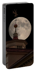 Moon Over Mount Vernon Portable Battery Charger by Ed Clark