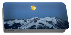 Moon Over Mt Gunnison Colorado Portable Battery Charger