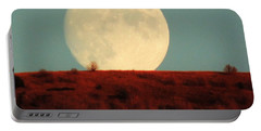 Moon Over Utah Portable Battery Charger by Charlotte Schafer