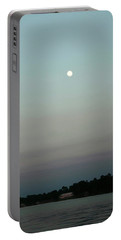 Moon Rise On Lake Conroe Portable Battery Charger