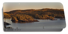Moon Rise Over Pukaskwa Portable Battery Charger