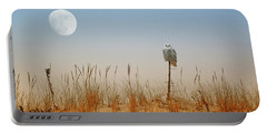 Moon Rise Snowy Owl Portable Battery Charger