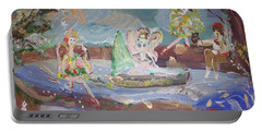 Moon River Fairies Portable Battery Charger by Judith Desrosiers