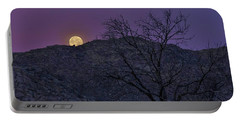 Moon Set At Sunrise Portable Battery Charger