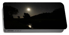 Moon Set Over Palm Valley 2 Portable Battery Charger by Paul Svensen