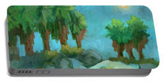 Portable Battery Charger featuring the painting Moon Shadows Indian Canyon by Diane McClary