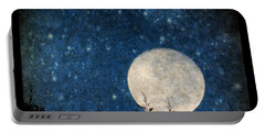 Moon, Tree And Stars Portable Battery Charger