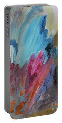 Portable Battery Charger featuring the painting Moonchaser by Robin Maria Pedrero
