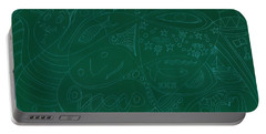 Moonfish Drawing Negative Green Chalk Portable Battery Charger