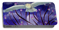 Portable Battery Charger featuring the digital art Moonlight Hunt by Iowan Stone-Flowers