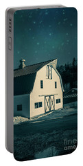 Portable Battery Charger featuring the photograph Moonlight In Vermont by Edward Fielding