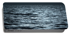 Moonlight On The Ocean Portable Battery Charger by Nancy Landry
