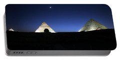 Moonlight Over 3 Pyramids Portable Battery Charger