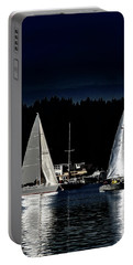 Portable Battery Charger featuring the photograph Moonlight Sailing by David Patterson