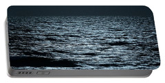 Moonlight Waves Portable Battery Charger by Nancy Landry