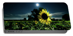 Portable Battery Charger featuring the photograph Moonlighting Sunflower by Everet Regal
