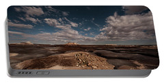 Portable Battery Charger featuring the photograph Moonlit Badlands by Melany Sarafis