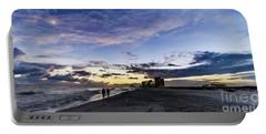 Moonlit Beach Sunset Seascape 0272b1 Portable Battery Charger