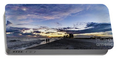 Moonlit Beach Sunset Seascape 0272c Portable Battery Charger