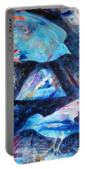 Moonlit Birds Portable Battery Charger by Denise Hoag