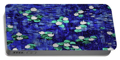 Moonlit Nymphaea Portable Battery Charger