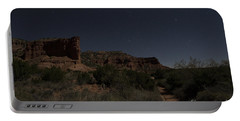 Portable Battery Charger featuring the photograph Moonlit Path by Melany Sarafis