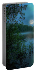 Portable Battery Charger featuring the photograph Moonlit by Rose-Marie Karlsen