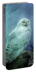 Moonlit Snowy Owl Portable Battery Charger