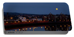 Moonrise In Belfast Portable Battery Charger