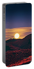 Moonrise In Northern New Mexico  Portable Battery Charger