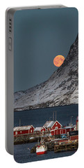 Moonrise In Reine Portable Battery Charger