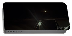 Moonrise On The Back Road Portable Battery Charger by Angela J Wright