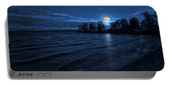 Moonrise On The Beach Portable Battery Charger