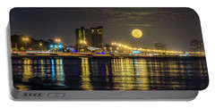 Moonrise Over Biloxi Portable Battery Charger