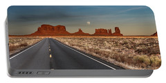 Moonrise Over Monument Valley Portable Battery Charger