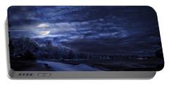 Moonrise Over Pymatuning Lake Portable Battery Charger