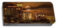 Moonrise Over Sarasota Portable Battery Charger