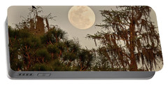 Moonrise Over Southern Pines Portable Battery Charger