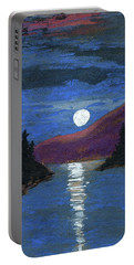 Moonrise Over Strait Portable Battery Charger