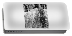Portable Battery Charger featuring the digital art Moonrise Over The Mountain by Will Borden