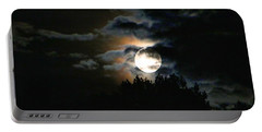 Moonset In The Clouds 2 Portable Battery Charger