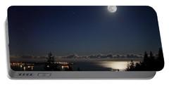 Moonshine Over English Bay Portable Battery Charger