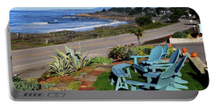 Portable Battery Charger featuring the photograph Moonstone Beach Seat With A View by Barbara Snyder