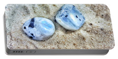 Moonstones Portable Battery Charger by Rachel Hannah