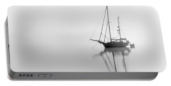 Moored On A Foggy Day Portable Battery Charger
