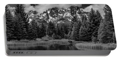 Moose At Schwabacher's Landing Portable Battery Charger